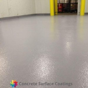 non slip epoxy floor coating in a food storage facility