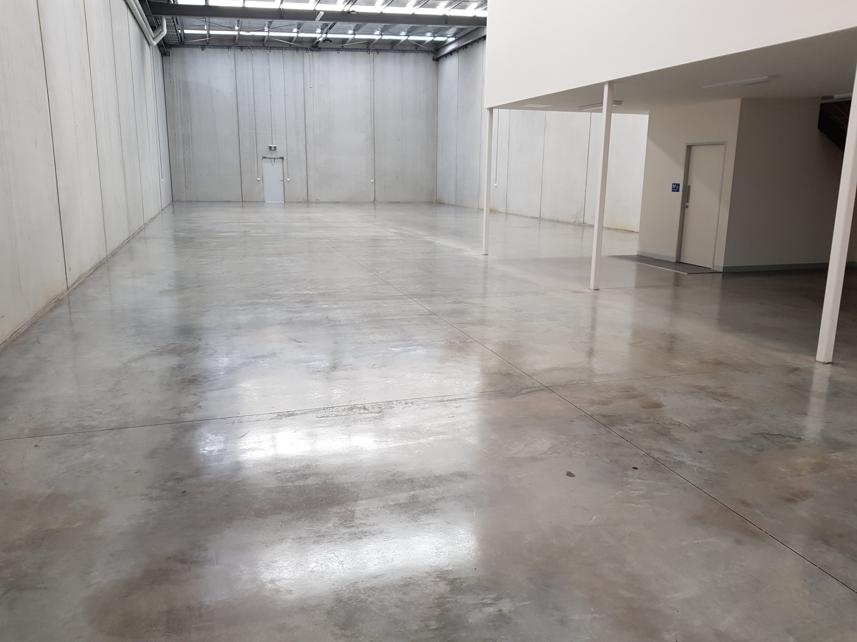 warehouse with acrylic sealer