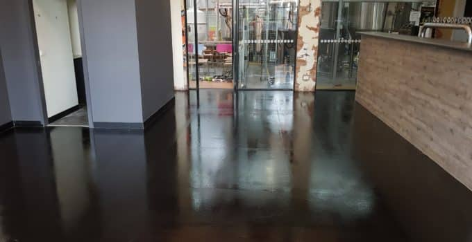 Concrete floor sealer in Melbourne Brewery 1