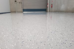 Epoxy floor coating in a Notting Hill automotive workshop 15