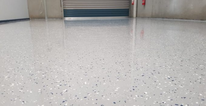 Epoxy floor coating in a Notting Hill automotive workshop 1