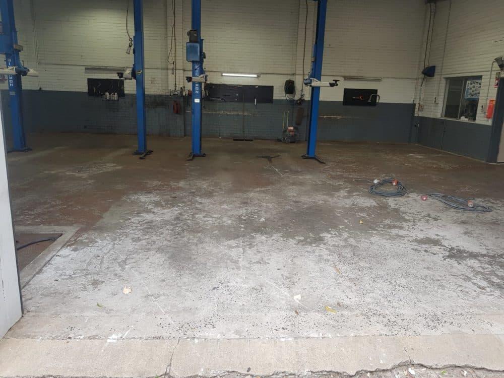 Epoxy Floor Coating in Automotive Workshop in Melbourne 5
