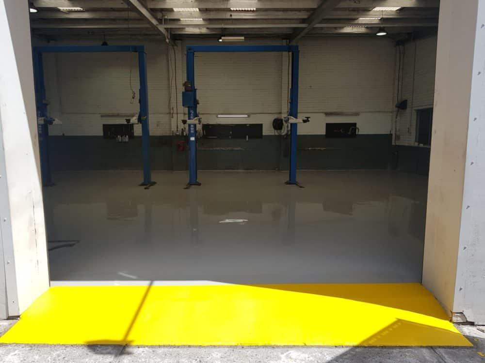Epoxy Floor Coating in Automotive Workshop in Melbourne 4