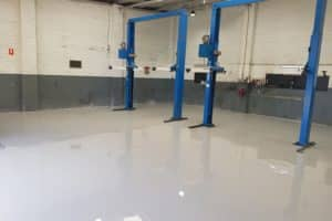 Epoxy Floor Coating in Automotive Workshop in Melbourne 2