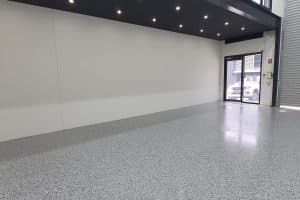 Nunawading Warehouse Epoxy Vinyl Flake Flooring 1